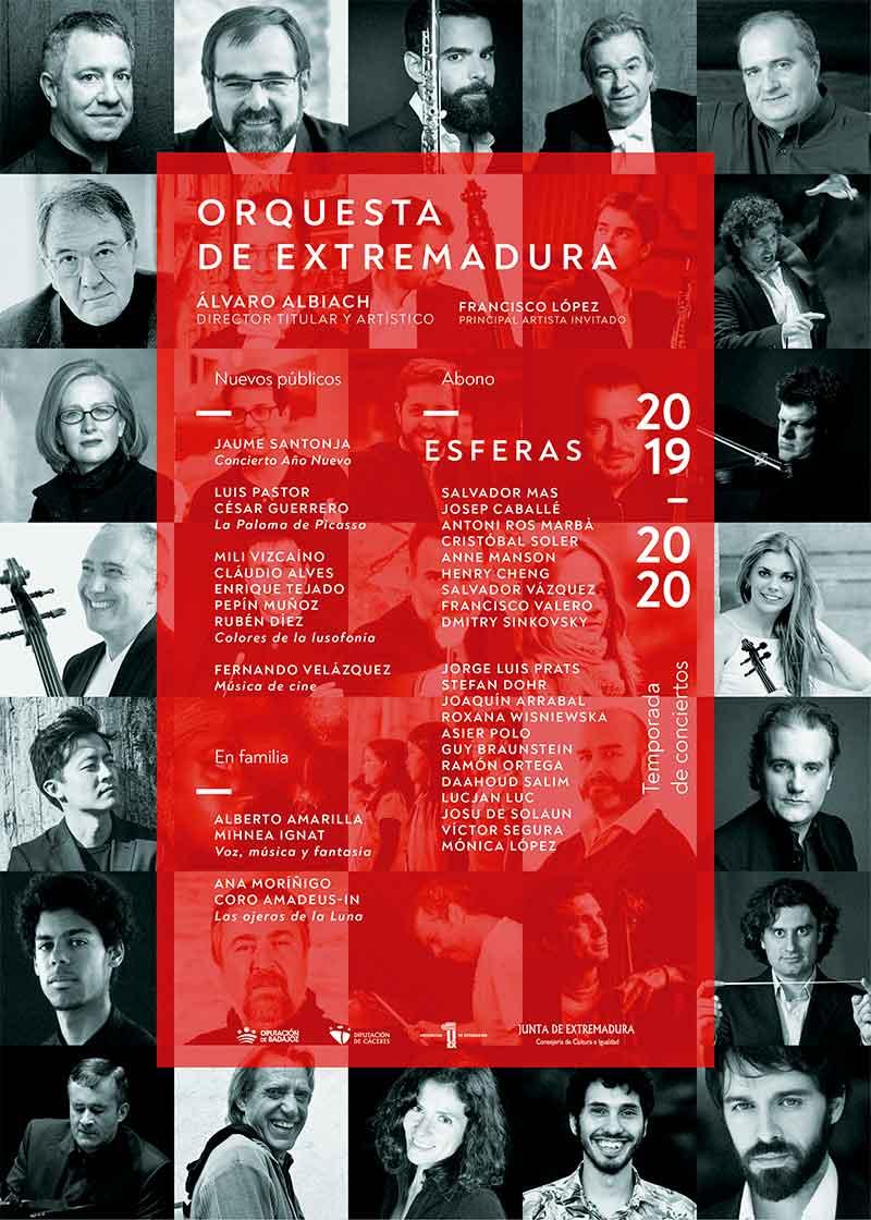 La Orquesta de Extremadura presenta la temporada 2019/2020 bajo el título 'Esferas'