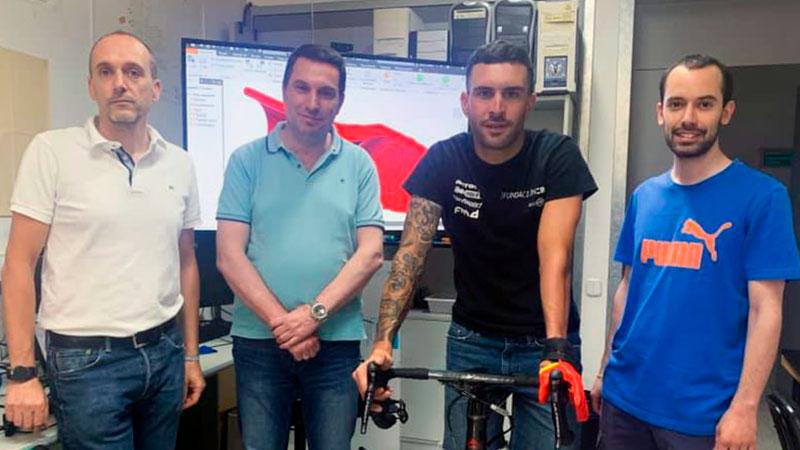 Un Trabajo Fin de Máster puede proporcionar al ciclista Rubén Tanco una prótesis para mejorar sus prestaciones en competición