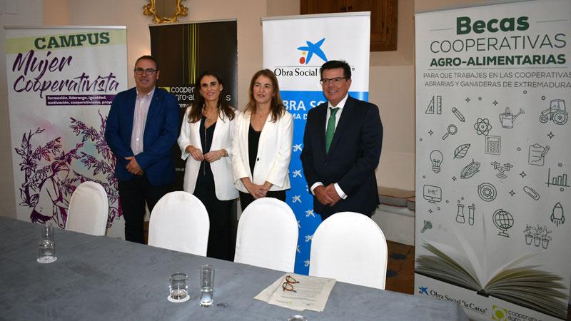 La Caixa y Cooperativas Agro-alimentarias Extremadura promoverán la inserción laboral y  la igualdad de oportunidades