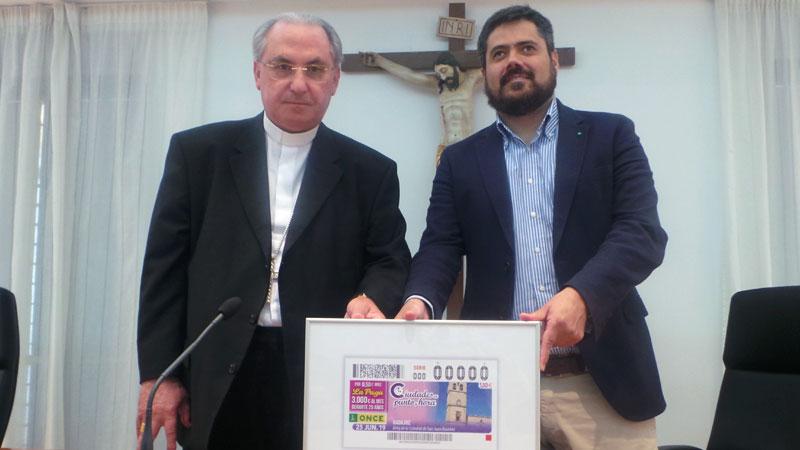 El reloj de la catedral de San Juan Bautista de Badajoz protagoniza el cupón de la ONCE