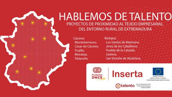 El programa 'Hablemos de talento' de Fundación ONCE analiza el mercado de trabajo en las zonas rurales de Extremadura