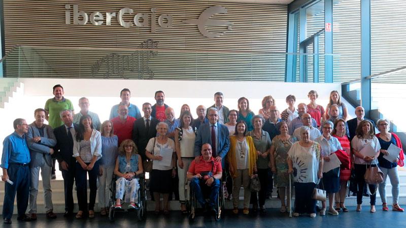 Fundación CB y Fundación Ibercaja firman los convenios con las asociaciones beneficiarias del programa de proyectos sociales