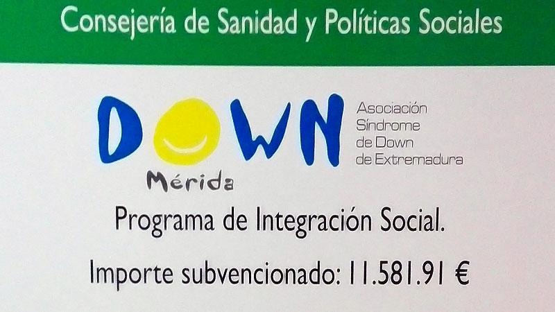 Down Mérida comienza dos programas de integración y promoción de las personas con discapacidad financiados por el Sepad