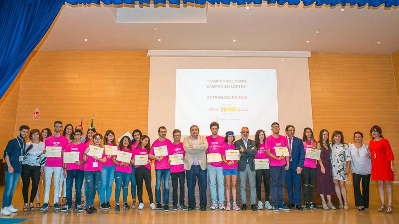 Concluye el campus inclusivo de las fundaciones ONCE y Repsol en la Universidad de Extremadura