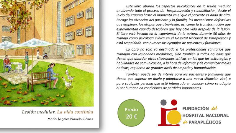 María Ángeles Pozuelo presenta su último libro, 'Lesión medular. La vida continúa'