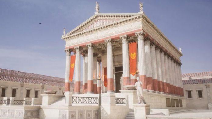 La realidad virtual permite una nueva perspectiva del Templo de Diana de Mérida
