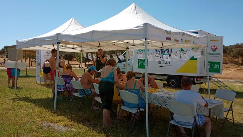 Adenex y Promedio desarrollan actividades de concienciación con el medio ambiente en playas fluviales