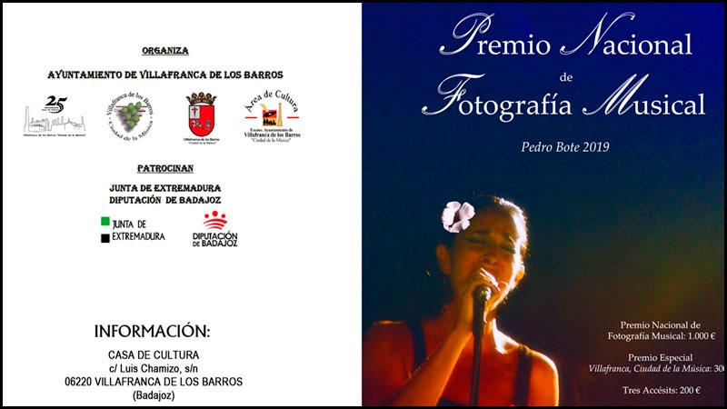 El Ayuntamiento de Villafranca de los Barros convoca el Premio de fotografía musical 'Pedro Bote'