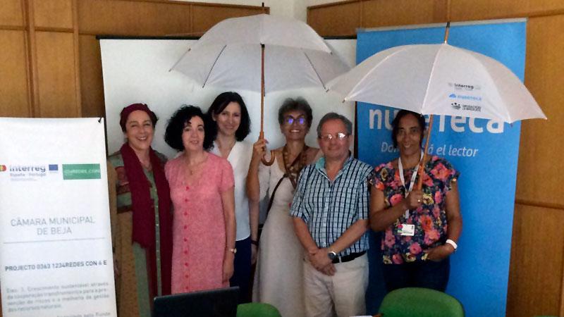 Personal del Servicio de Bibliotecas de la Diputación de Badajoz conoce el funcionamiento de la Biblioteca de Beja