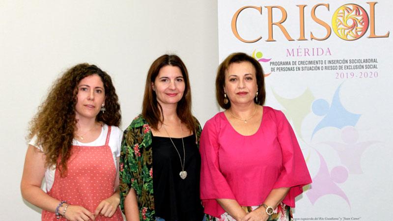 El programa Crisol contribuye a la inserción laboral de colectivos en riesgo de exclusión social de Mérida