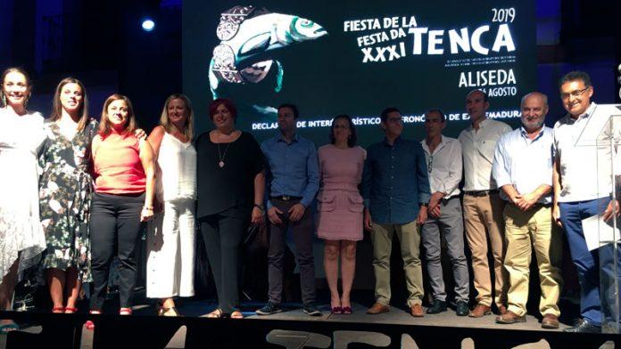 La actriz Clara Alvarado y el equipo de la Universidad de Extremadura 'Pretagu' reciben la Tenca de Oro