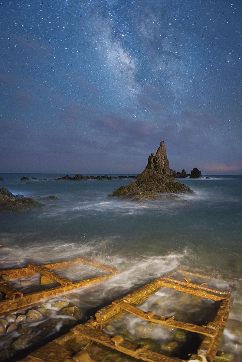 'Arrecife bajo las estrellas. Cabo de Gata'. Grada 137. Fotografía
