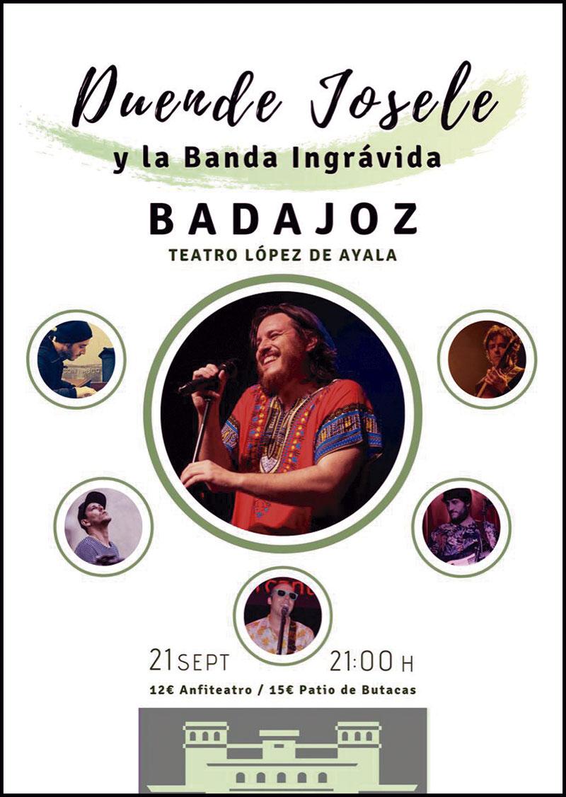 Duende Josele presenta su nuevo disco, 'Desnudos integrales', en el teatro López de Ayala de Badajoz. Grada 137. Música