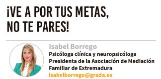 ¡Ve a por tus metas, no te pares! Grada 137. Isabel Borrego
