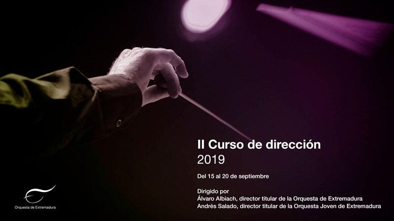 La Orquesta de Extremadura desarrolla su segundo curso de dirección orquestal