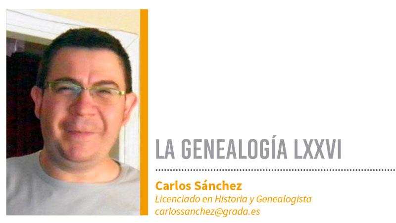 Genealogía LXXVI. Grada 138. Carlos Sánchez