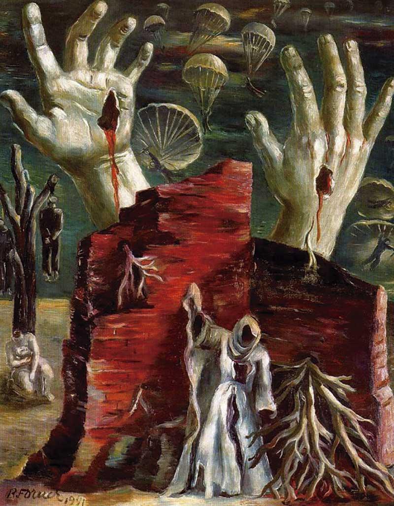 'La caída', de Raquel Forner. Grada 138. Arte