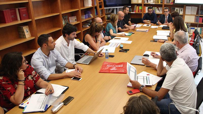 La Diputación de Badajoz acoge una reunión del proyecto 'Caminos Jacobeos del Oeste peninsular'. Grada 138