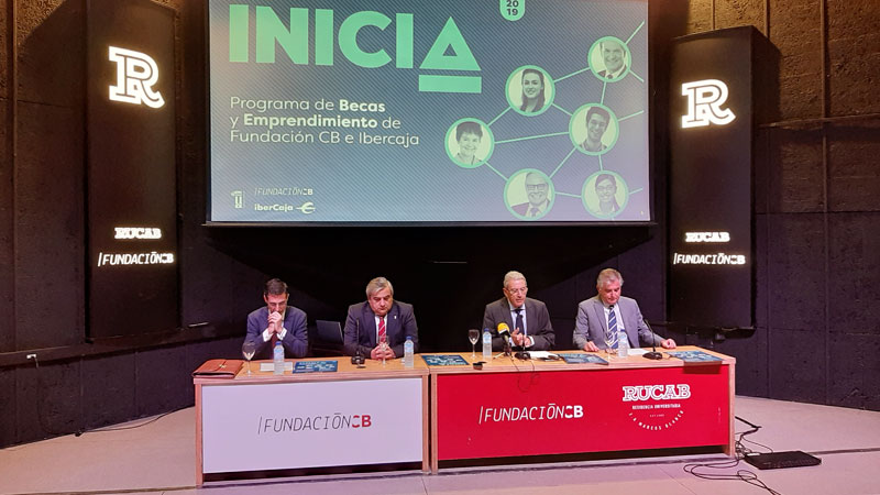 Fundación CB e Ibercaja presentan una nueva edición del Programa de becas y emprendimiento. Grada 138