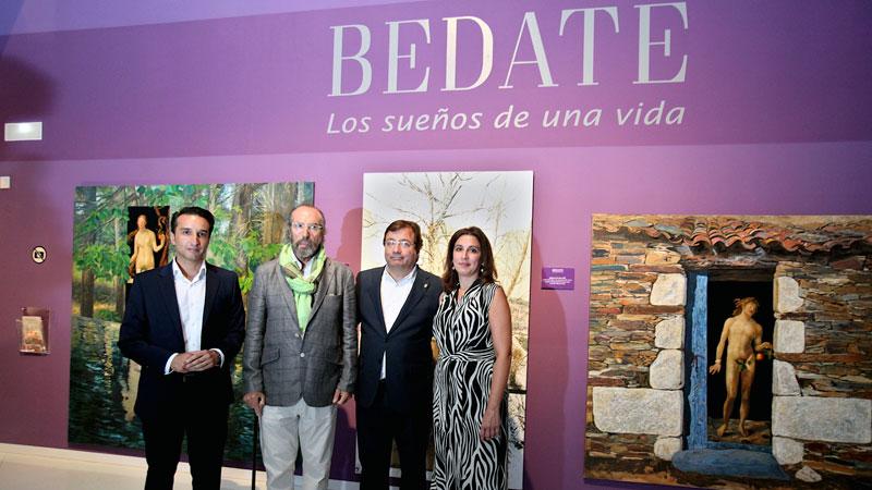 Exposición sobre la vida artística de Miguel Ángel Bedate en Badajoz