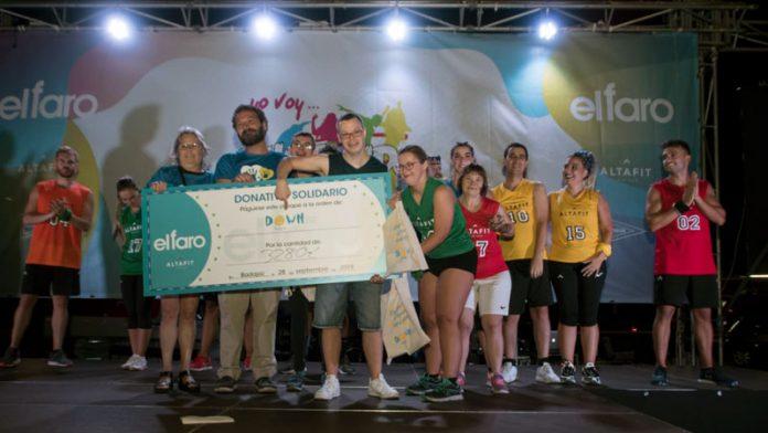 El evento solidario 'Zumbando' recauda 3.280 euros para la asociación Down Badajoz
