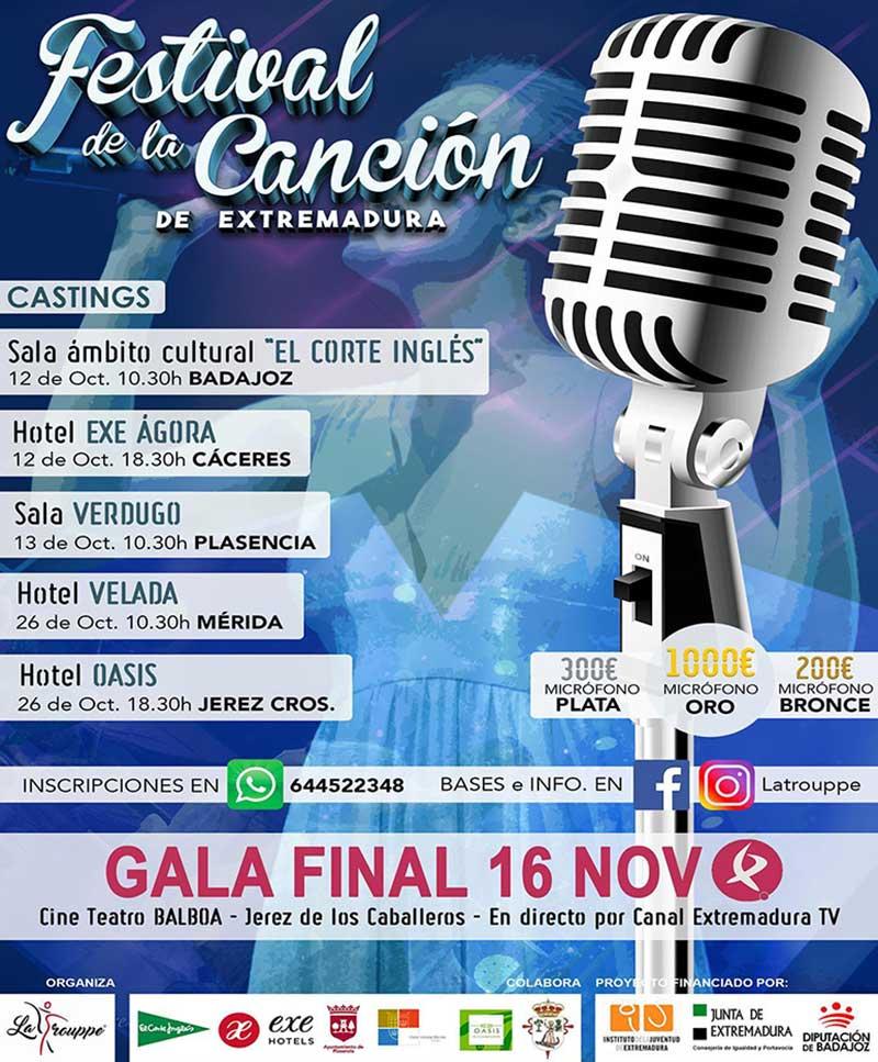 La Trouppe organiza una nueva edición del Festival de la canción de Extremadura