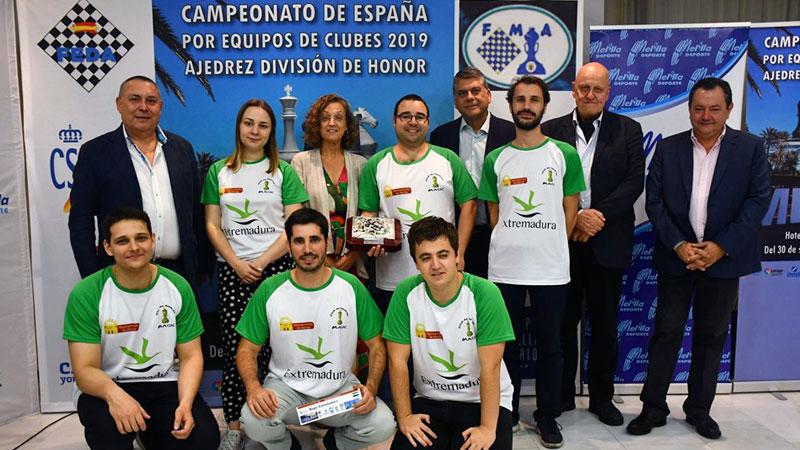 El Club Magic Extremadura se proclama campeón de España de ajedrez en un torneo perfecto, sin derrotas