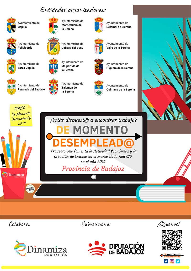 La asociación eDinamiza desarrolla el proyecto 'De momento desemplead@'