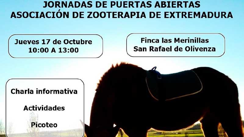 Jornada de puertas abiertas de la Asociación de Zooterapia de Extremadura