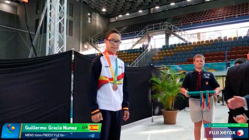 El nadador cacereño Guillermo Gracia completa un espectacular mundial de deportistas con discapacidad intelectual