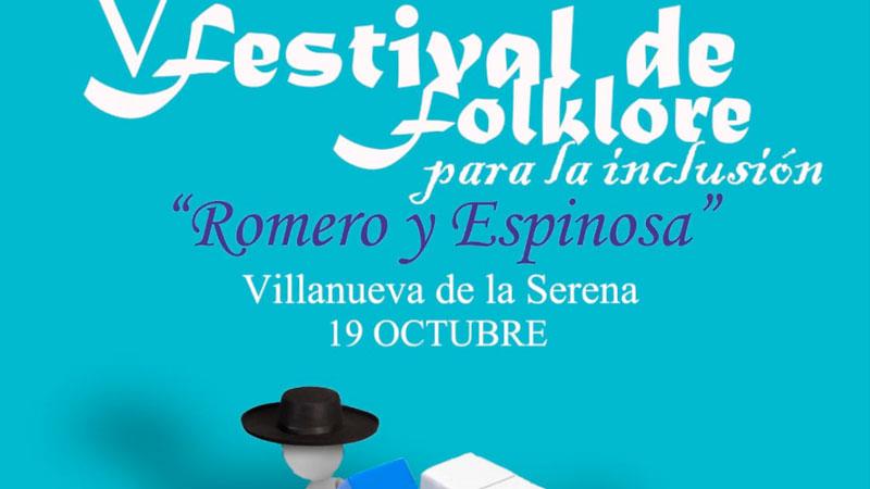 V Festival de folklore para la inclusión 'Romero y Espinosa' en Villanueva de la Serena