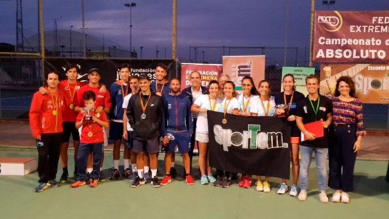 Los clubes Sportem y Cabezarrubia se proclaman campeones de Extremadura de tenis