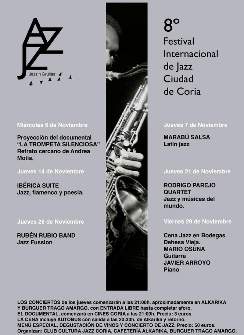 VIII Festival Internacional de Jazz de Coria 'Jazz´n Grullas'