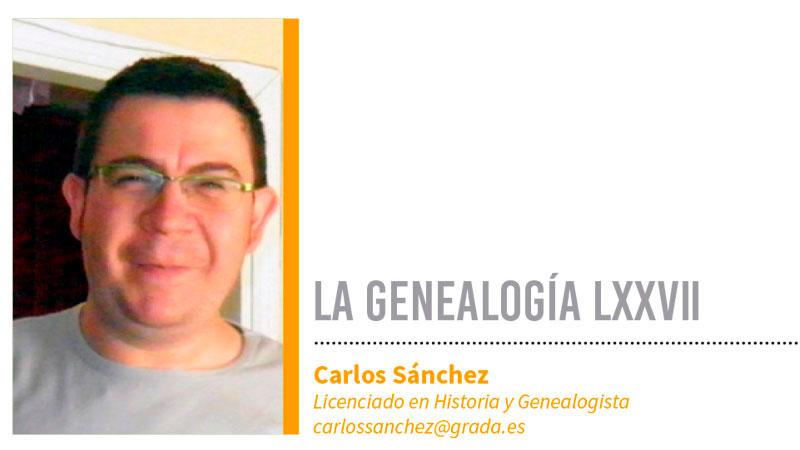 Genealogía LXXVII. Grada 139. Carlos Sánchez