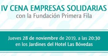 El 28 de noviembre se celebra la cena de empresas solidarias de la Fundación Primera Fila