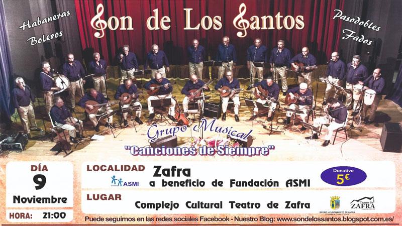 Concierto benéfico de 'Son de los Santos' en Zafra