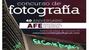 Exposición fotográfica del concurso '40 aniversario de la AFE' en Badajoz