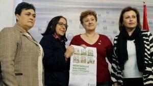 Mercadillo solidario de la Asociación Española contra el Cáncer en Mérida