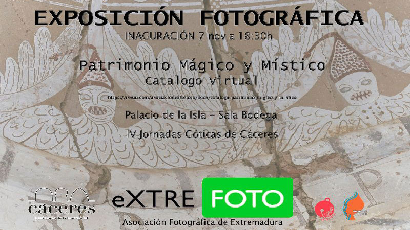 Exposición Extrefoto en Cáceres con motivo de las Jornadas Góticas
