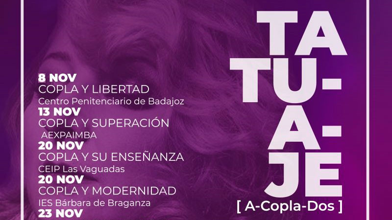 Programa de conciertos Tatuaje 'A-copla-dos' de Fundación CB, Pilar Boyero y Pedro Monty