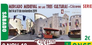 El Mercado Medieval de las Tres Culturas de Cáceres protagoniza el cupón de hoy la ONCE