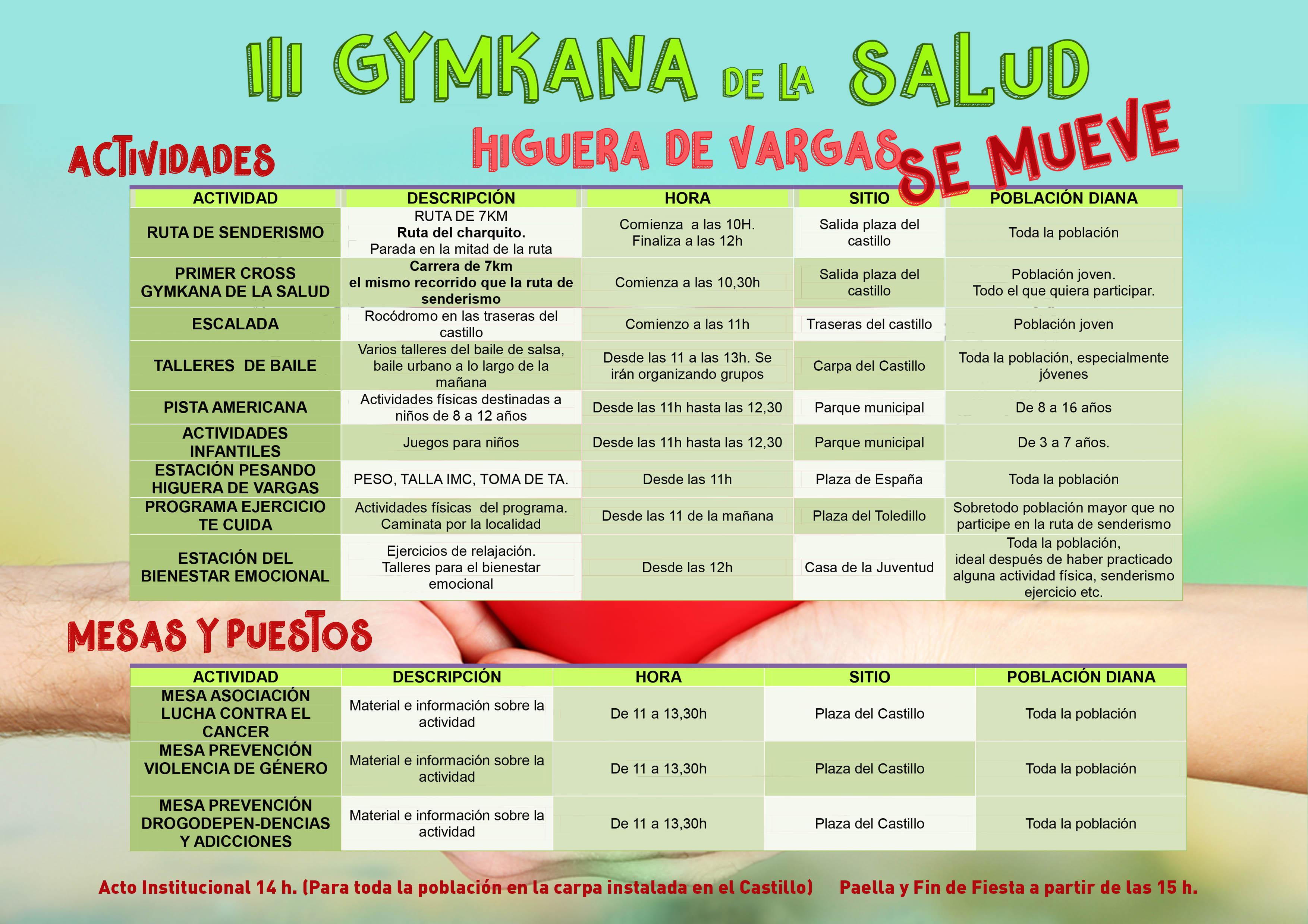 III Gymkana de la salud de Higuera de Vargas