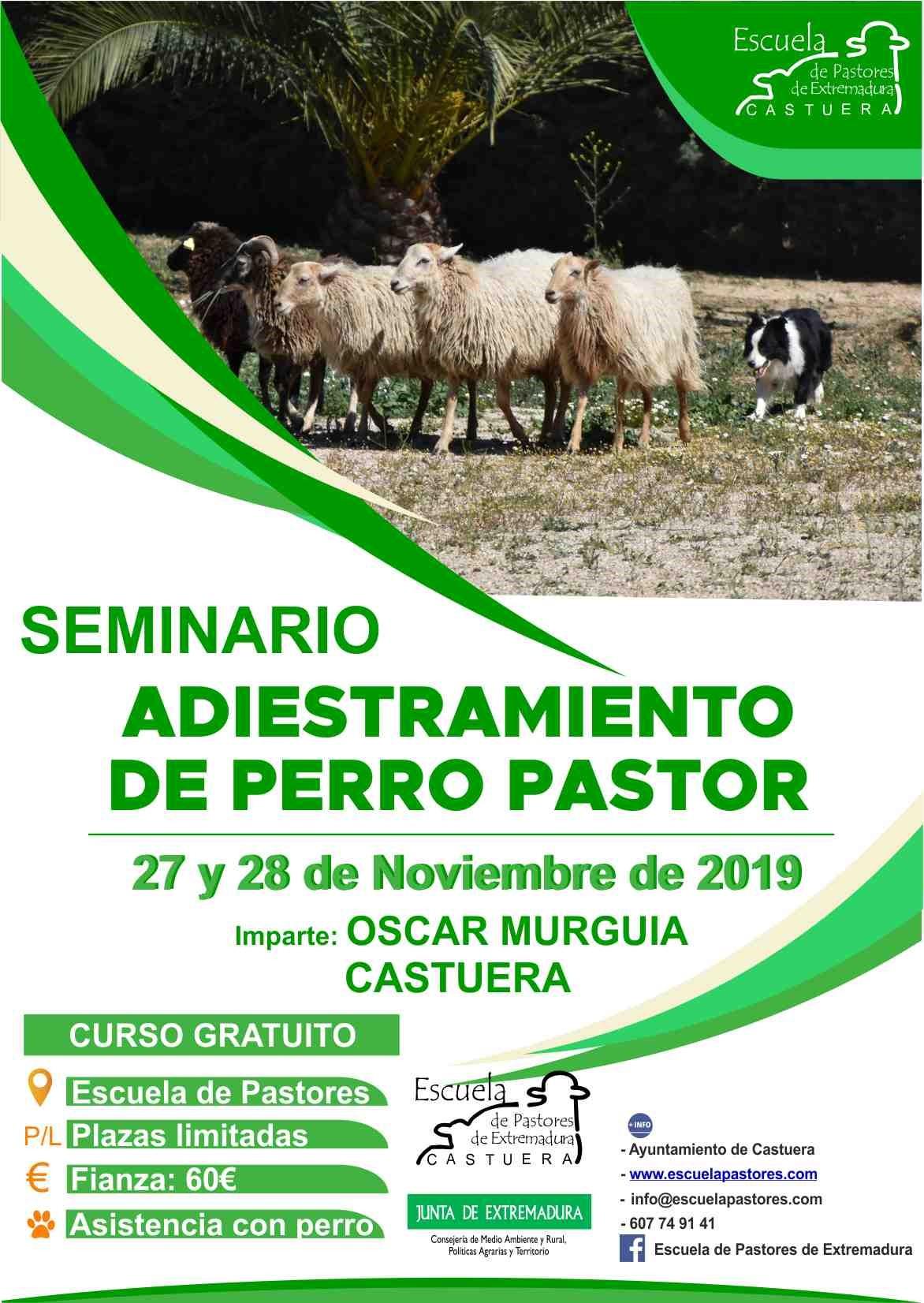 La Escuela de Pastores de Extremadura imparte un seminario sobre adiestramiento de perro pastor