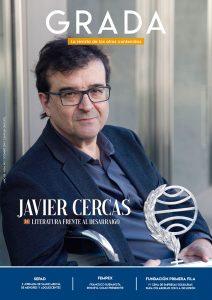 Javier Cercas. Literatura frente al desarraigo. Grada 140. Portada