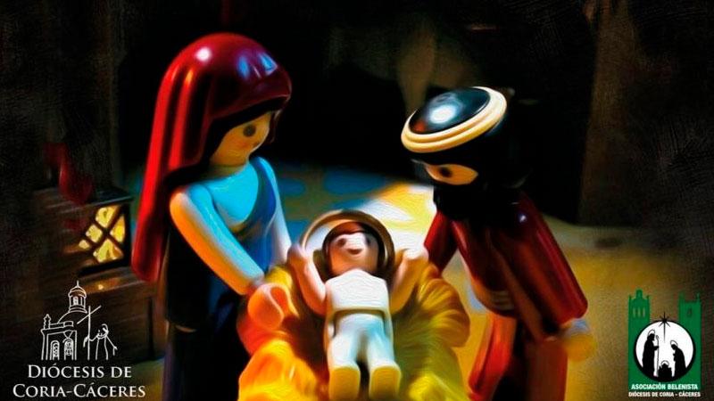 Belén con figuras de Playmobil en Cáceres