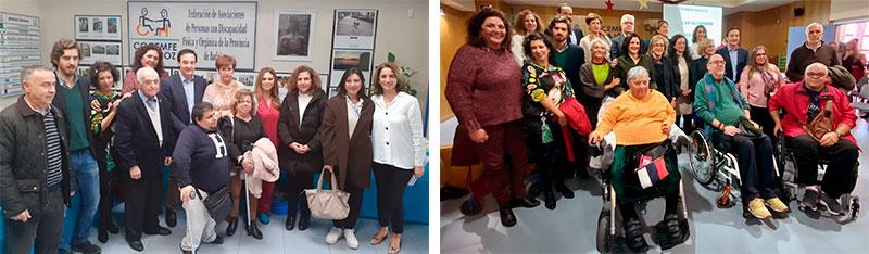 Asistentes a las actividades lúdicas celebradas en Cocemfe Badajoz