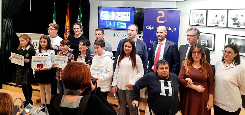 Entrega de premios del concurso escolar 'Me pongo tu mochila' de Cermi Extremadura. Foto: Cedida