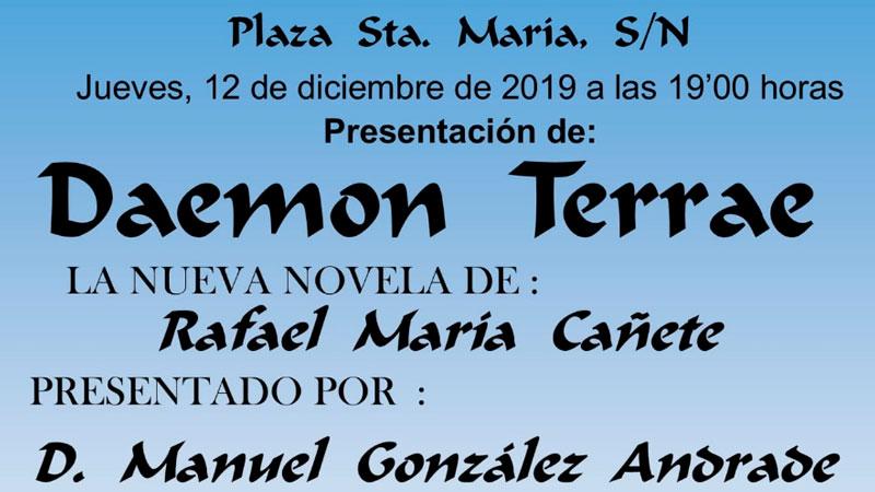 Presentación de 'Daemon terrae', de Rafael María Cañete, en Olivenza