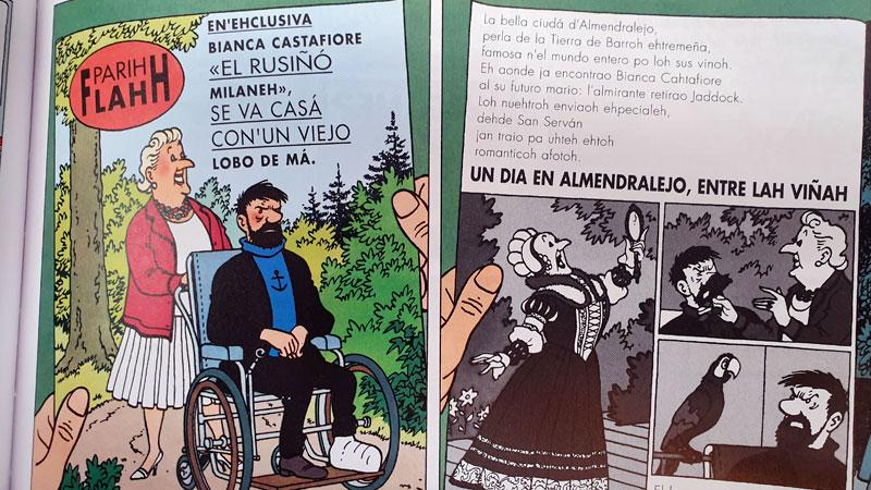 Presentación del cómic de Tintín en castúo en Plasencia