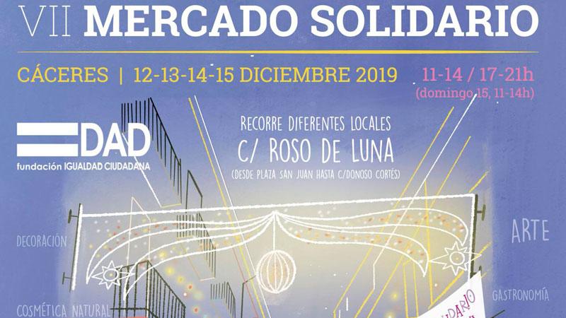 VII Mercado solidario de la Fundación Igualdad Ciudadana en Cáceres